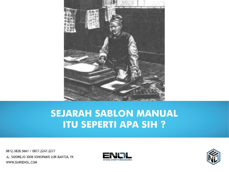 Sejarah Sablon Manual