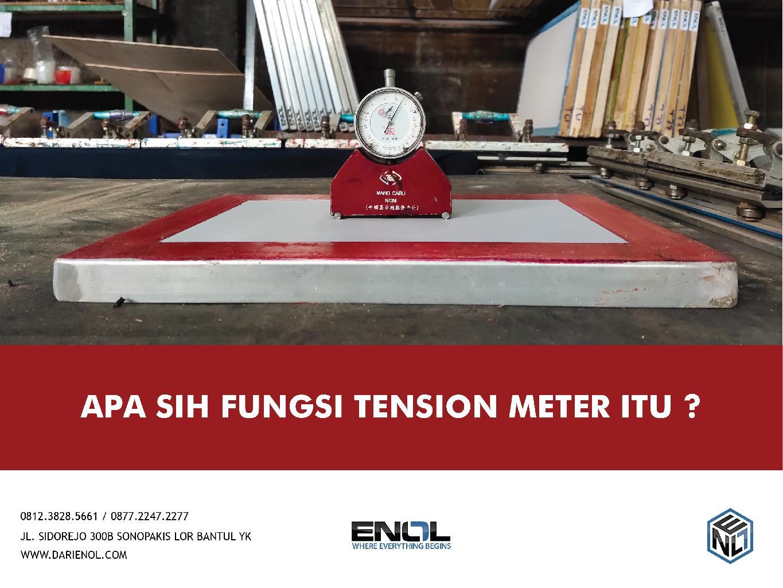 Apasih Fungsi Tension Meter itu?